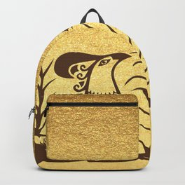 Knossos griffin on a gold background Backpack