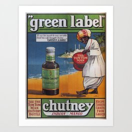 Vintage poster - Green Label Indian Mango Chutney Art Print