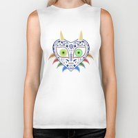 majora Biker Tanks featuring Dia de los Majora - Legend of Zelda by Katie Halliday