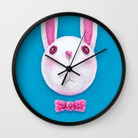 rabbit Wall Clocks featuring Rabbit by Lime