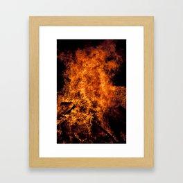 Burning Fire Framed Art Print