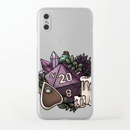 Witchy D20 Tabletop RPG Gaming Dice Clear iPhone Case