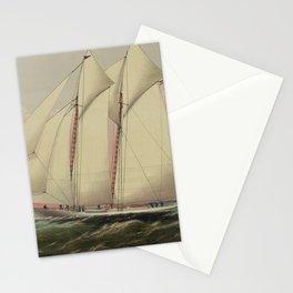 Vintage Schooner Yacht Illustration (1870) Stationery Cards
