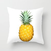 pinapple Throw Pillows featuring Pineapple by CumulusFactory