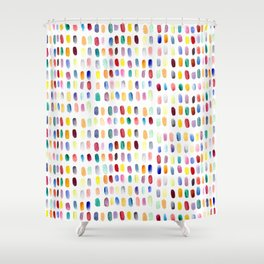 A brush of color Shower Curtain