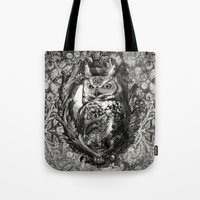 eric fan Tote Bags featuring Nightwatch - by Eric Fan and Garima Dhawan  by Eric Fan