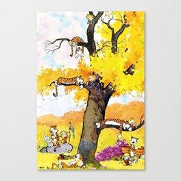calvin hobbes all Canvas Print