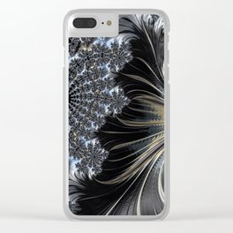 Feathers and Lace Clear iPhone Case