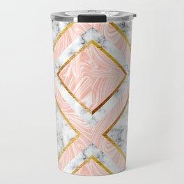 Gold and marble Travel Mug