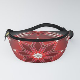 Morning Star Circle (Red) Fanny Pack