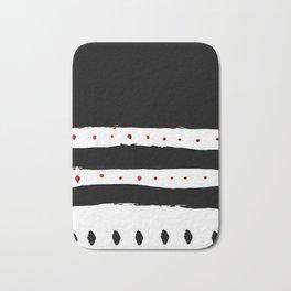 Stripes and Dots - Repeat, Minimal art Bath Mat