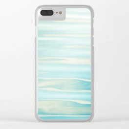 Water Ripples Photography, Aqua Blue Ocean Abstract Art, Turquoise Sea, Seascape Clear iPhone Case