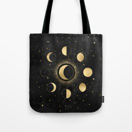 Gold Moon Phases  Tote Bag