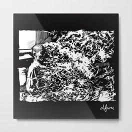 Burning Monk Metal Print