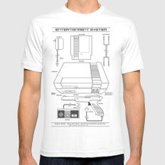 Entertainment System (light) White SMALL Mens Fitted Tee