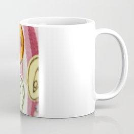 Embroidered Buttons Pink Coffee Mug