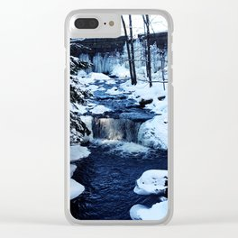 Winter Waterfalls Clear iPhone Case