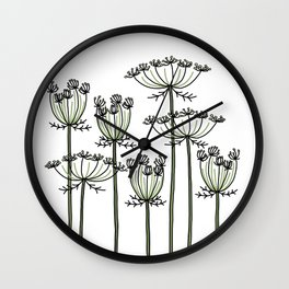 wild carrots Wall Clock