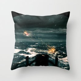 Fortune Favours The Brave Throw Pillow