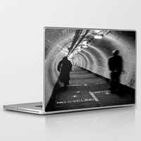 cycling Laptop & iPad Skins featuring No Cycling by Dawn OConnor
