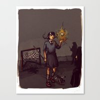 lacrosse Canvas Prints featuring Lacrosse of DOOM by carbonatedink