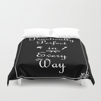 mary poppins Duvet Covers featuring Mary Poppins Practically Perfect by Whimsy and Nonsense