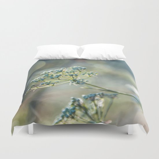 Early morninglight in a meadow  Duvet Cover