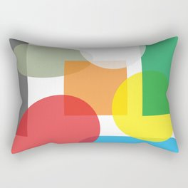 Tech geometric colorful Background #society6 #decor #buyart #artprint Rectangular Pillow