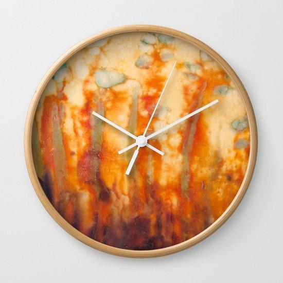 Fire Lillies Wall Clock