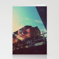 train Stationery Cards featuring Train by Sam Halleen