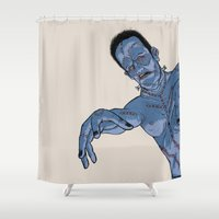 frankenstein Shower Curtains featuring Frankenstein by ChrisNygaard