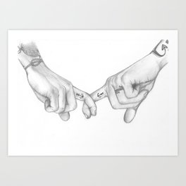 I'll make this feel like home (Harry Styles and Louis Tomlinson) Art Print