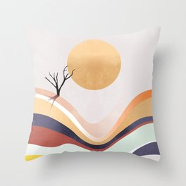 The Flowing Pale Desert Throw Pillow