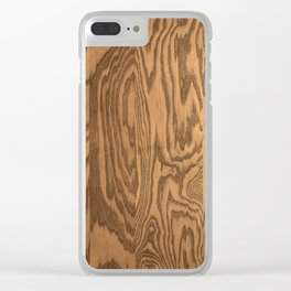 Wood 5, heavily grained wood Horizontal grain Clear iPhone Case