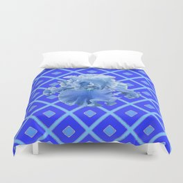 Baby Blue German Iris Blue Pattern Duvet Cover