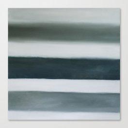 grey strata Canvas Print