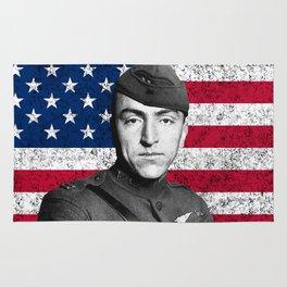 Eddie Rickenbacker And The American Flag Rug