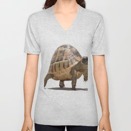 Marching Baby Tortoise Cartoon Vector Isolated Unisex V-Neck