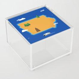 Iowa Island Acrylic Box