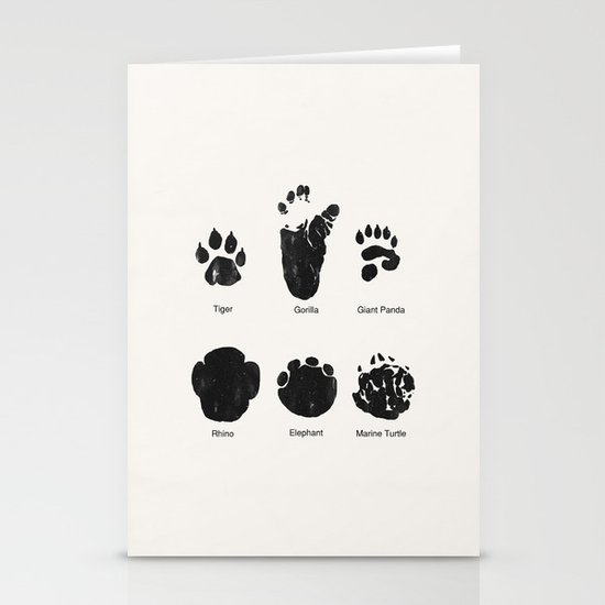 Animal Track Stationery Cards