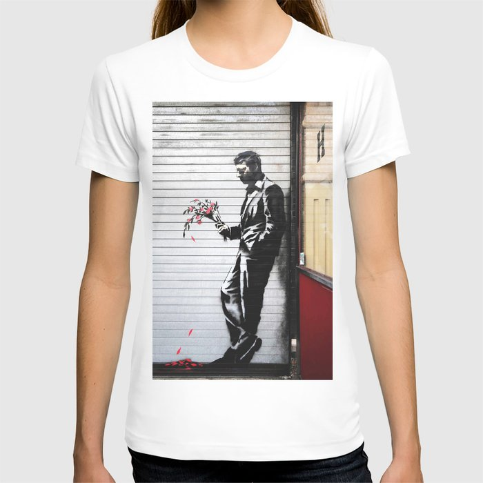 Banksy, Man with flowers T-shirt