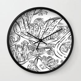 Entangled City Wall Clock