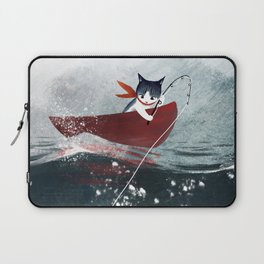 """Catfish"" - cute fantasy cat mermaids illustration Laptop Sleeve"