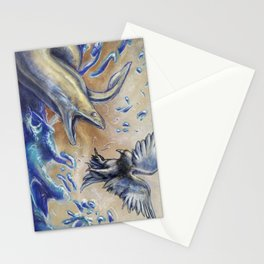 Eel vs. Pigeon Stationery Cards