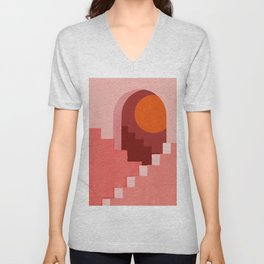 Abstraction_SUN_Architecture_Minimalism_001 Unisex V-Neck