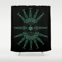 angels Shower Curtains featuring Angels by Daniac Design