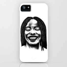 Never stop to smile. iPhone Case