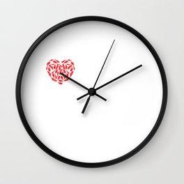 I Heart Kingfishers | Love Kingfisher Bird Breeds Wall Clock