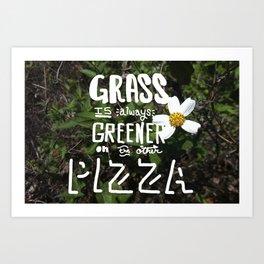 grass is greener... Art Print