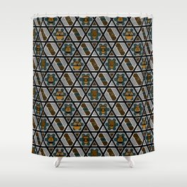Greek Art, Frets and Vases Shower Curtain
